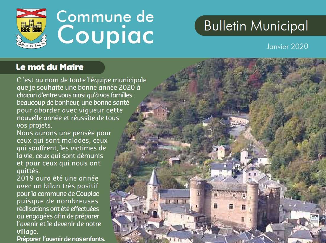 Coupiac bulletin municipal janvier 2020