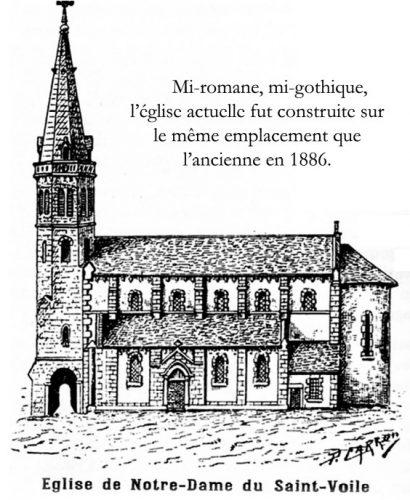 Coupiac église de Notre Dame du Saint Voile